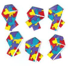 paper ribbons free autism awareness paper ribbon