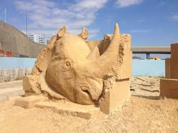 mat駻iaux cuisine sand sculpture rhino 高雄 運動 sand sculptures