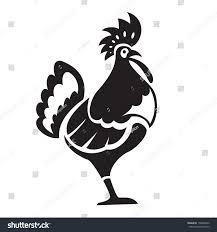 black ornamental big chicken stock vector 158606342