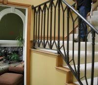 Exterior Stair Handrail Kits Wrought Iron Railing Cost Arched Decorative Secure And Useful