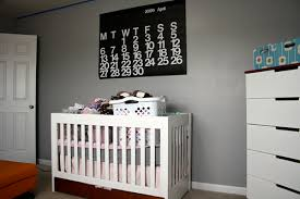 nursery in the making wall 2 behr cribs and lightbox