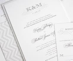 Monogram Wedding Invitations Wedding Invitations With Monogram In Gray U2013 Wedding Invitations