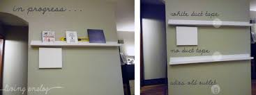 ikea ledges ledges painted u0026 hung living analog