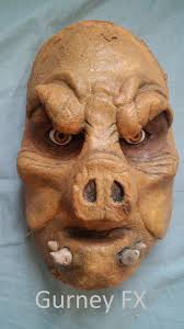 prosthetic halloween mask warthog makeup effects foam latex prosthetic mask pig face