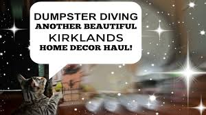 dumpster diving big home decor haul youtube
