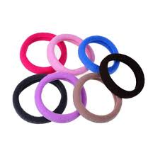 hair rubber bands 10pcs lot candy black fluorescence colored hair holders high