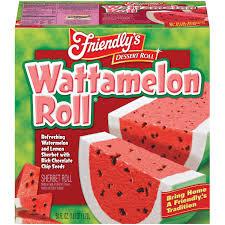 friendly u0027s watermelon roll sherbet roll 58 fl oz box walmart com