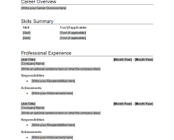 Best One Page Resume Format by Resume Template Word Best