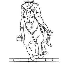 boy jumping horse coloring pages hellokids