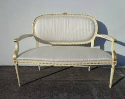 French Settee Loveseat French Sofa Etsy