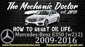 how to reset oil light mercedes benz e350 w212 2009 2010 2011