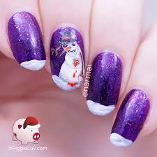 piggieluv christmas horror nail art zombie snowman u0026 demonic