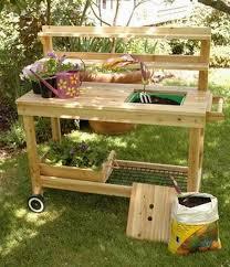Redwood Potting Bench 10 Best Potting Benches Images On Pinterest Garden Outdoor
