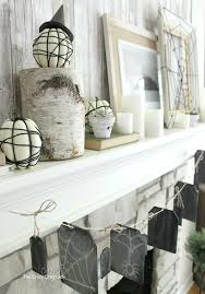 Decorate Your Home For Halloween Indoor Halloween Decorations A Simple Neutral Mantel Full Of