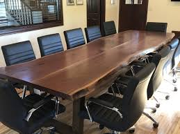 Office Boardroom Tables Live Edge Harvest Tables Tree Green Team Collingwood Ontario