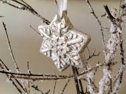 snowflake ornaments sparkle living