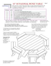 Plans For Picnic Table With Attached Benches by Best Of Octagonal Picnic Table And Octagon Picnic Table Wood