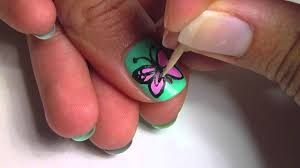 butterfly nail art youtube