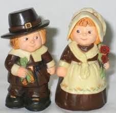 free vintage hallmark salt pepper shakers thanksgiving pilgrims