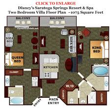 Simple 3 Bedroom Floor Plans by Bedroom 3 Bedroom Villas In Disney World Design Ideas Classy