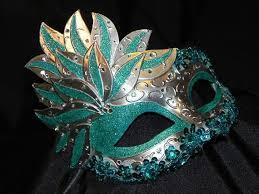 teal masquerade masks teal and silver showgirl masquerade mask masquerade masks