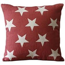How Do I Make Cushion Covers Amazon Com Set Of 3 Patriotic American Flag Theme Pattern