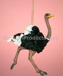 russian products ostrich ornament for tree souvenirs