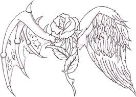 coloring pages cross angel wings coloring pages ages