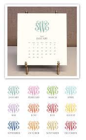 2018 easel desk calendar stacy claire boyd monogrammed desk calendar easel 2018 more