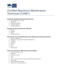 Sample Resume Maintenance Technician by Apartment Maintenance Man Resume Youtuf Com