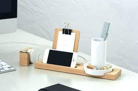 Wood Desk Accessories Modern Desk Accessories Concrete Organizer With Regard To