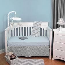 Grey Chevron Crib Bedding Set Zig Zag Blue U0026 Gray Chevron 5 Piece Baby Crib Bedding Set