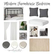 one room challenge modern farmhouse bedroom design plan