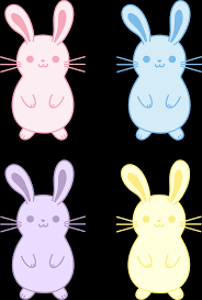 set of four cute easter bunnies free clip art