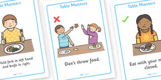 table manners table manners rules display posters by twinkl printable resources