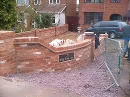 Garden Walls Ideas by Brilliant Front Garden Brick Wall Designs H78 About Home
