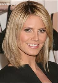 layered shoulder length bob hairstyles with side bangs for blonde