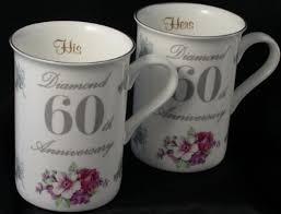 60th anniversary gift diamond 60th wedding anniversary gift pair of mugs co uk