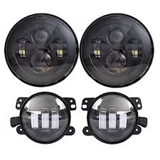 jeep wrangler black lights amazon com dot approved 7 black daymaker led headlights 4