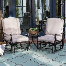 Patio Furniture Glider by Coral Coast Del Rey Padded Sling Outdoor Glider Chair Bronze