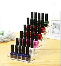 factory price clear 6 tier acrylic organizer for essie nail polish