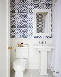 wallpaper ideas for bathrooms small bathroom makeover the before after with free handed