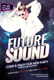 future sound party free psd flyer template download free psd poster