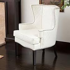 White Leather Accent Chair Aviator White Leather Accent Chair El Dorado Furniture Intended
