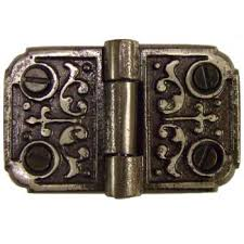ornate cast iron flush hinge