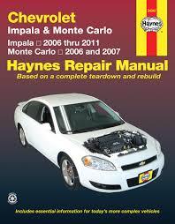 chevrolet impala 06 11 u0026 monte carlo 06 07 haynes repair