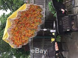 vintage finkel patio umbrella 8 foot yellow and flowered
