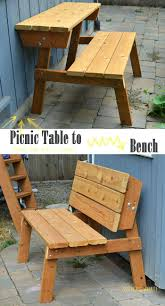 reclaimed wood flat pack picnic table easy build instructions