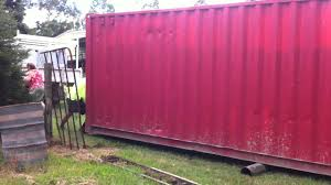 how to move a 40ft sea container youtube