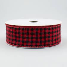 and black plaid ribbon 1 5 black gingham plaid flannel ribbon 10 yards rt16 179